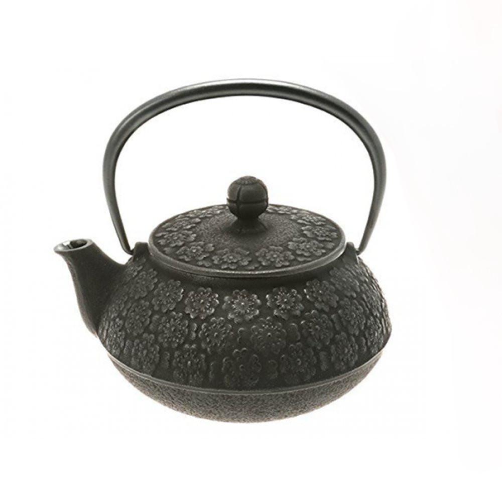 Ceainic din Fonta Sakura Black
