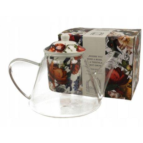 "Ceainic de Sticla cu infuzor ceramic ""Colibri"" 1.2L"