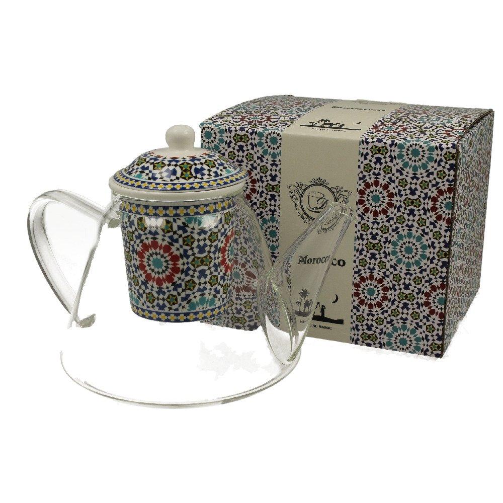 """Ceainic de Sticla cu infuzor ceramic """"Maroc"""" 1.2L"""