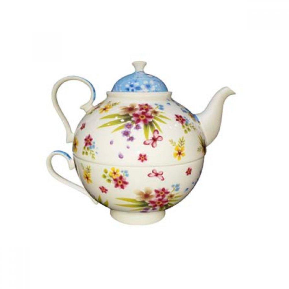 Tea for One Portelan Colectia Flori Colorate