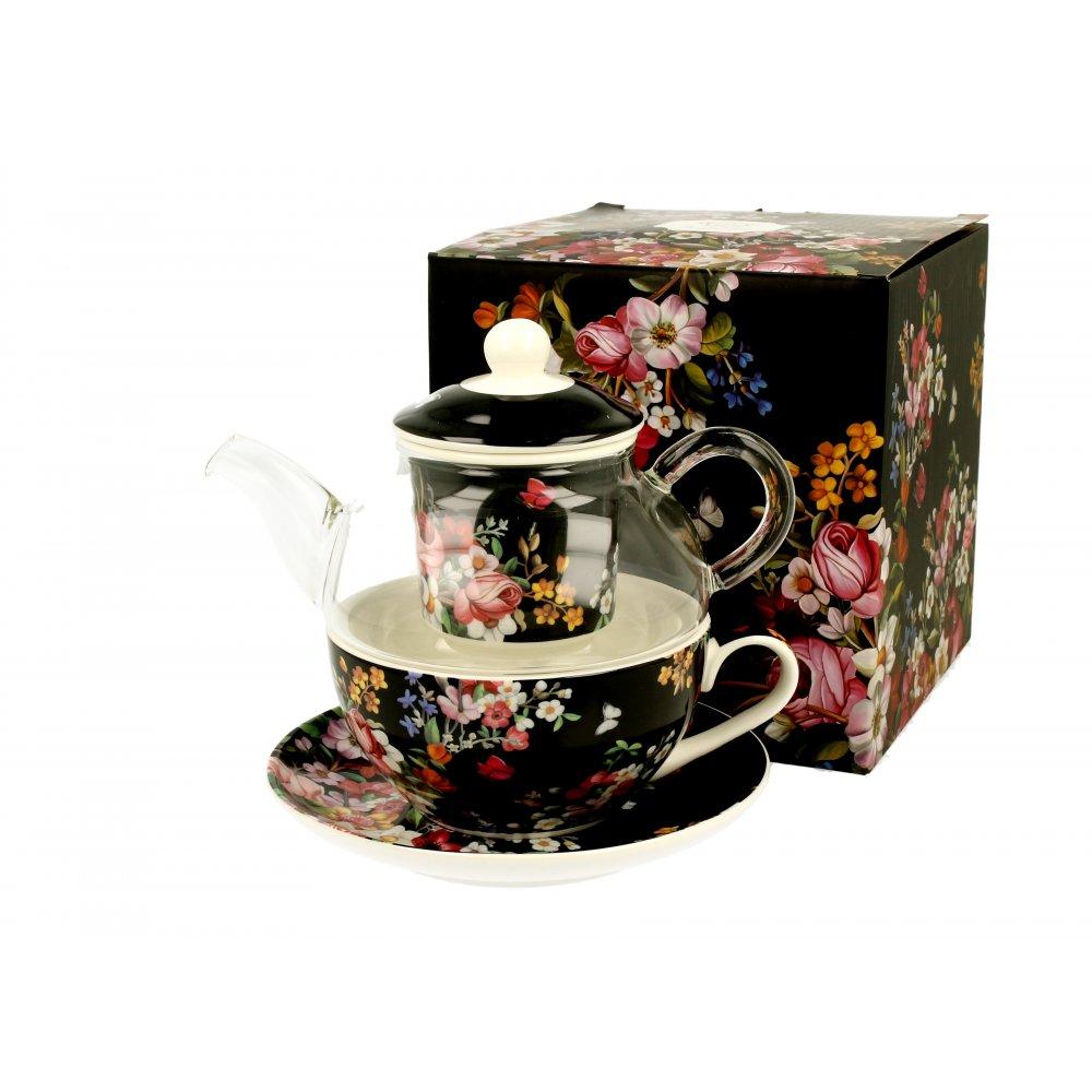 "Tea for One Colectia ""Vintage Dark Flowers"""