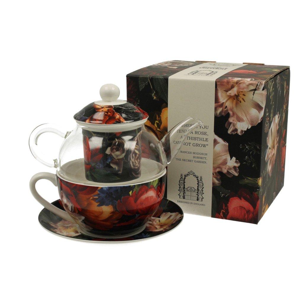 """Ceainic cu cana Tea for one colectia """"Dark Flowers"""""""
