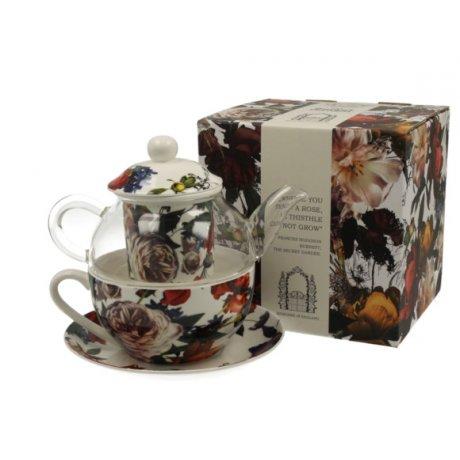 "Ceainic cu cana Tea for one colectia ""White roses"""