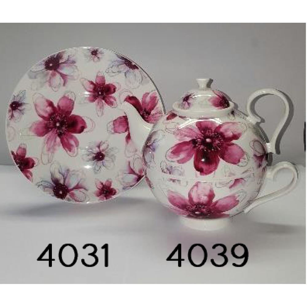 Tea for One Portelan Colectia Pink Flower