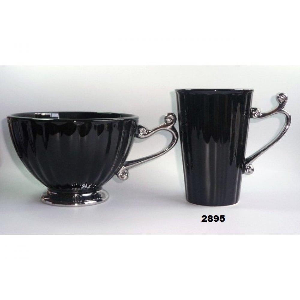 Cana Inalta Colectia Negru cu Argintiu