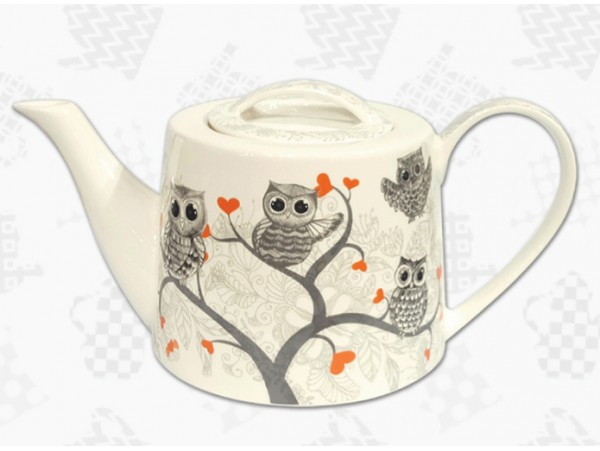 "Ceainic Portelan Colectia ""Lovely Owls"""