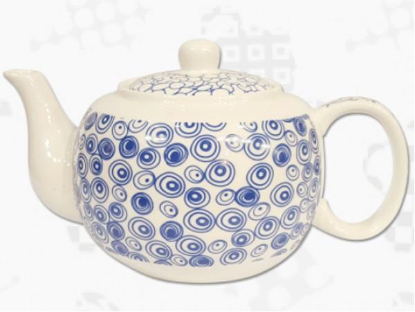 """Ceainic din Portelan colectia Japoneza """"Cercuri Albastre"""""""
