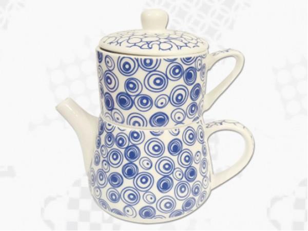 "Tea For One Portelan Colectia Japoneza ""Cercuri Albastre"""