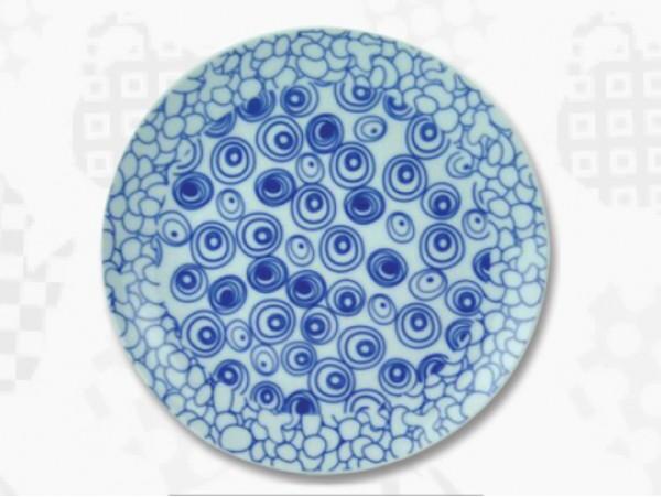 """Farfurie Portelan Colectia Japoneza """"Cercuri Albastre"""""""