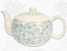 """Ceainic din Portelan colectia Japoneza """"Cercuri Turcoaz"""""""