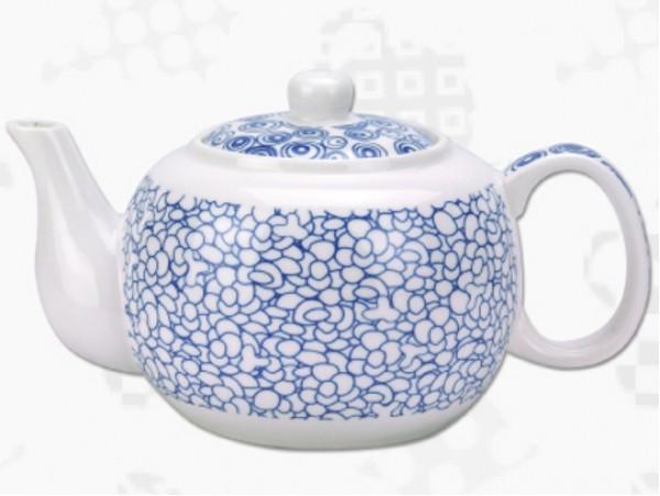 """Ceainic din Portelan colectia Japoneza """"Prundis Albastru"""""""