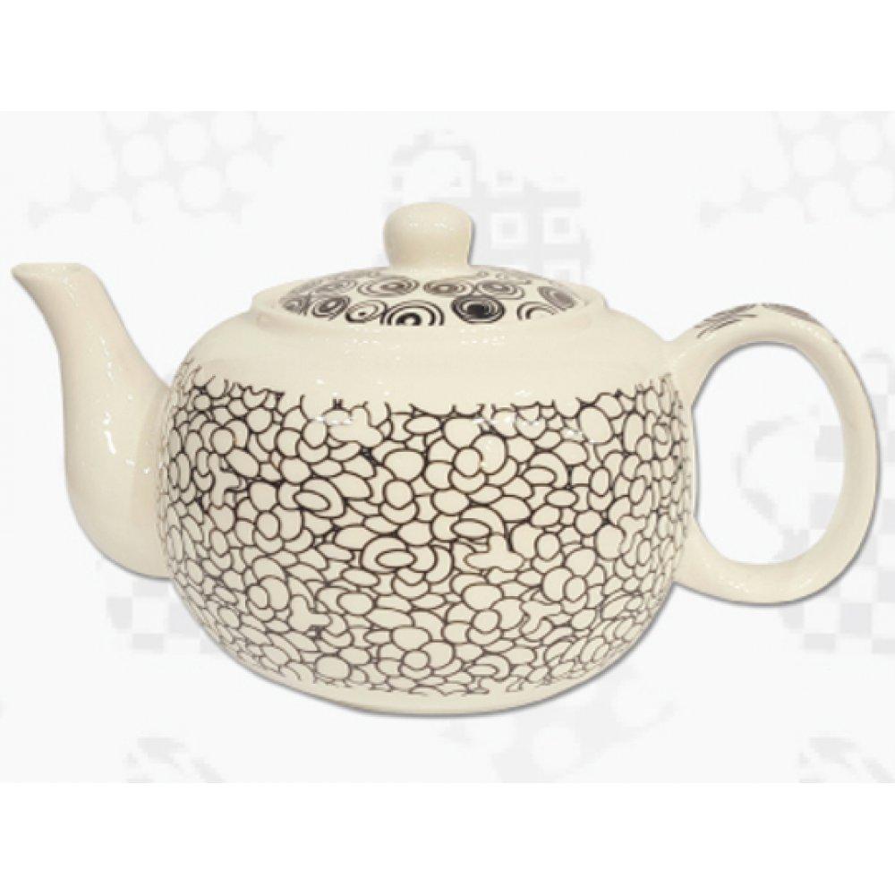 """Ceainic din Portelan colectia Japoneza """"Prundis Negru"""""""