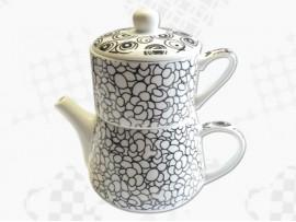 "Tea For One Portelan Colectia Japoneza ""Prundis Negru"""