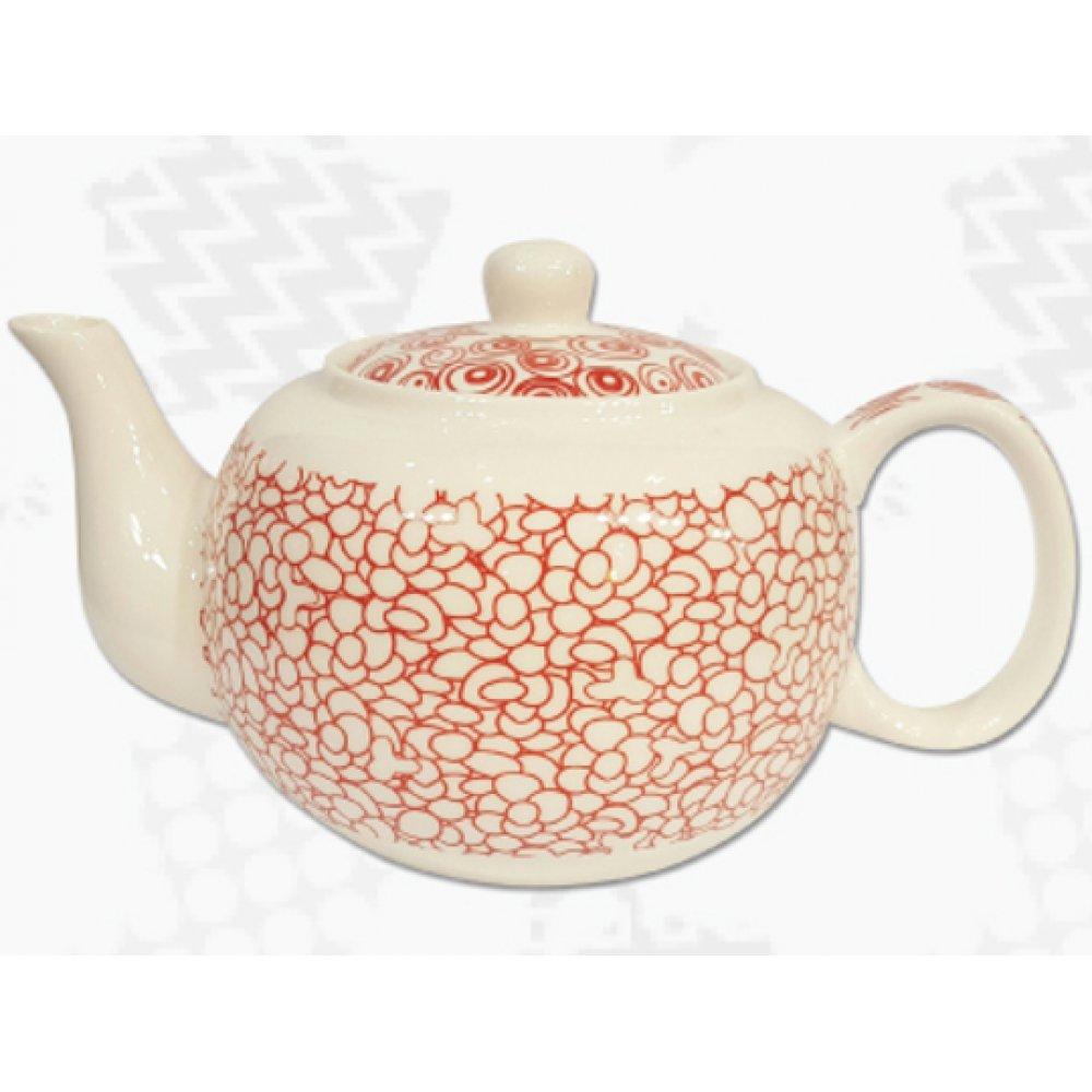"""Ceainic din Portelan colectia Japoneza """"Prundis Rosu"""""""