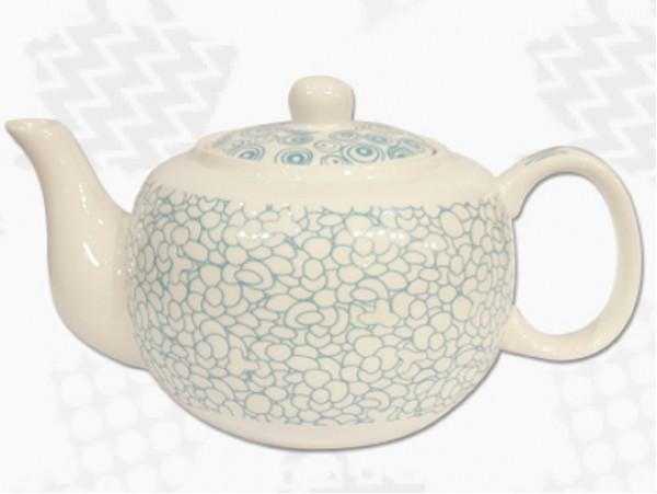 """Ceainic din Portelan colectia Japoneza """"Prundis Turcoaz"""""""