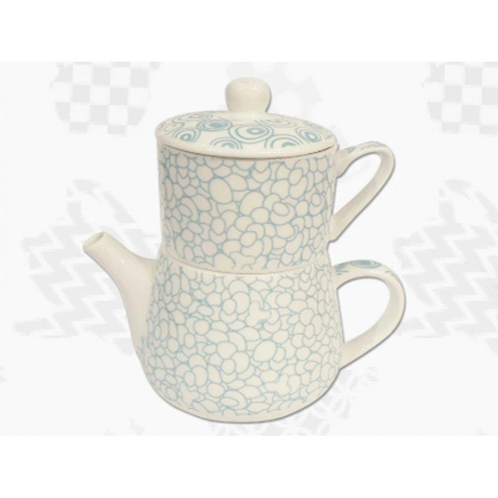 "Tea For One Portelan Colectia Japoneza ""Prundis Turcoaz"""