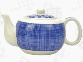 """Ceainic din Portelan colectia Japoneza """"Linii Albastre"""""""
