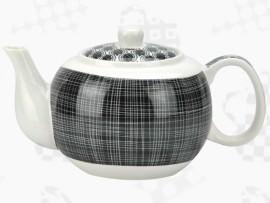 """Ceainic din Portelan colectia Japoneza """"Linii Negre"""""""