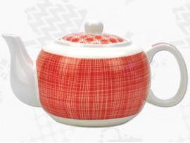 "Ceainic din Portelan colectia Japoneza ""Linii Rosii"""