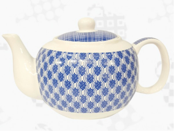 "Ceainic din Portelan colectia Japoneza ""Nori Albastri"""