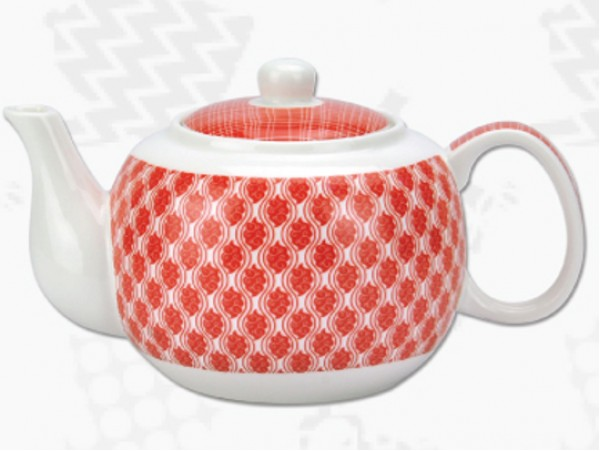 "Ceainic din Portelan colectia Japoneza ""Nori Rosii"""