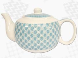 """Ceainic din Portelan colectia Japoneza """"Nori Turcoaz"""""""