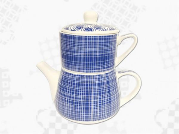 "Tea For One Portelan Colectia Japoneza ""Linii Albastre"""