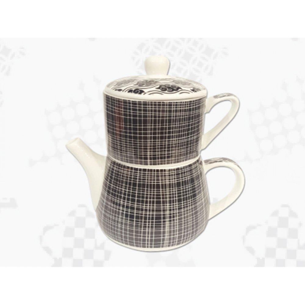 "Tea For One Portelan Colectia Japoneza ""Linii Negre"""