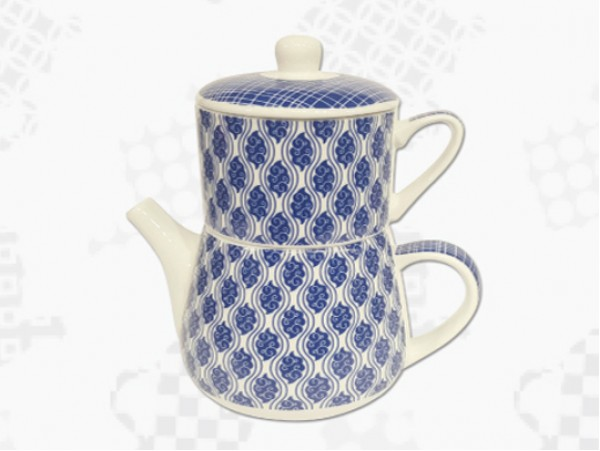 "Tea For One Portelan Colectia Japoneza ""Nori Albastri"""