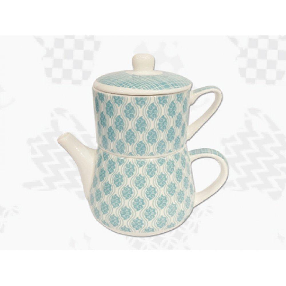 "Tea For One Portelan Colectia Japoneza ""Nori Turcoaz"""