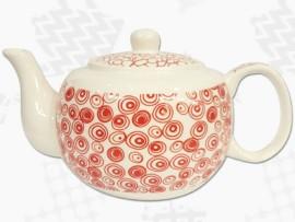 """Ceainic din Portelan colectia Japoneza """"Cercuri Rosii"""""""