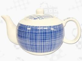 "Ceainic din Portelan colectia Japoneza ""Denim Albastru"""