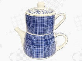 "Tea For One Portelan Colectia Japoneza ""Denim Albastru"""