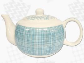 "Ceainic din Portelan colectia Japoneza ""Denim Turcoaz"""