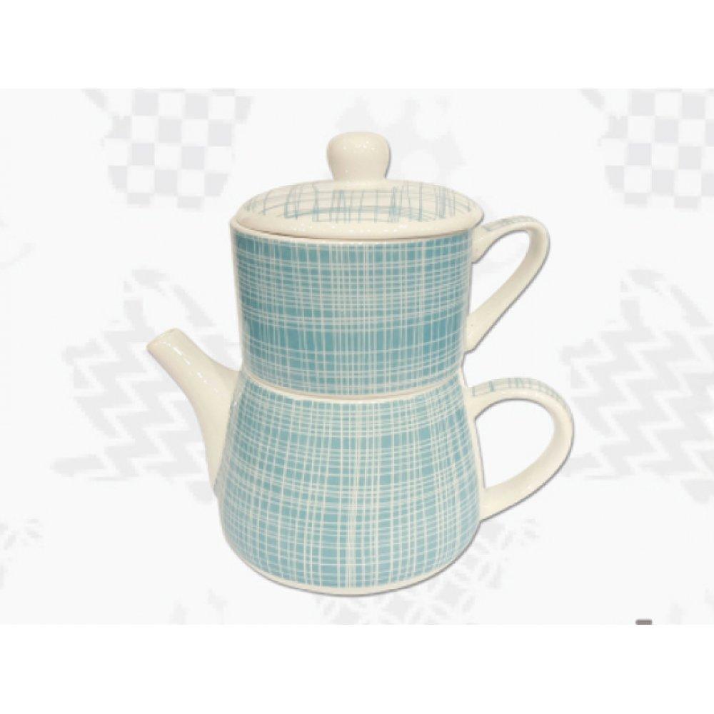 "Tea For One Portelan Colectia Japoneza ""Denim Turcoaz"""