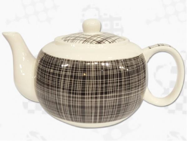 "Ceainic din Portelan colectia Japoneza ""Denim Negru"""