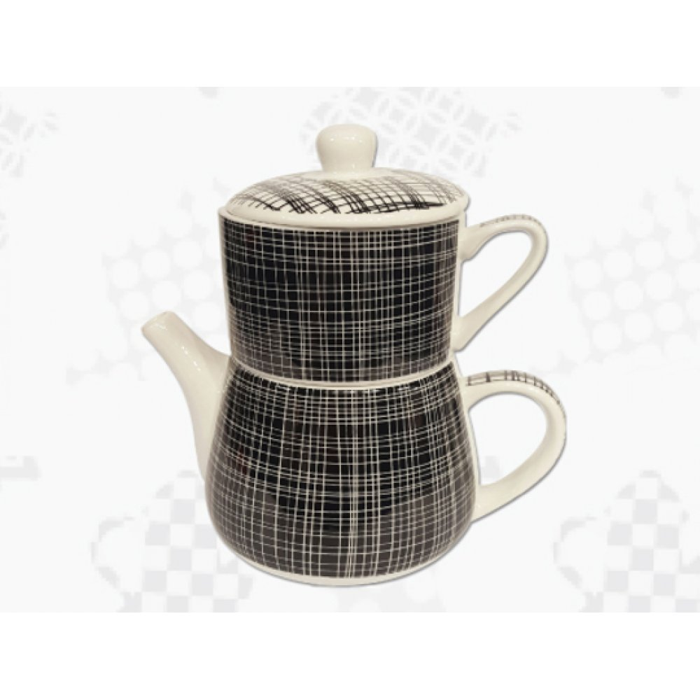 "Tea For One Portelan Colectia Japoneza ""Denim Negru"""