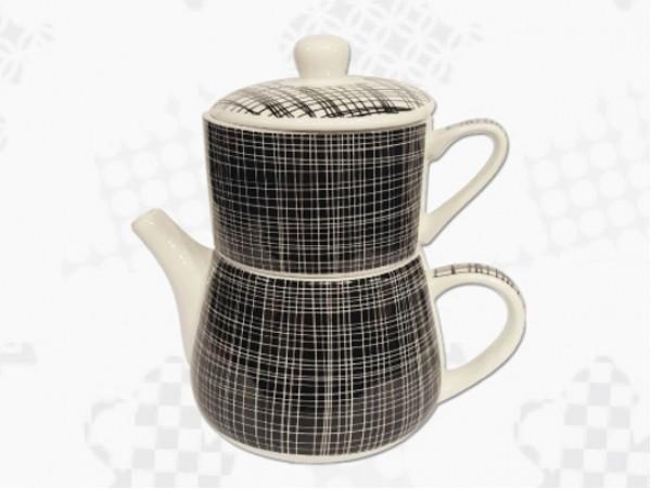 "Tea For One Portelan Colectia Japoneza ""Denim Negru"""