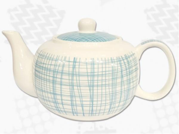 "Ceainic din Portelan colectia Japoneza ""Dungi Turcoaz"""