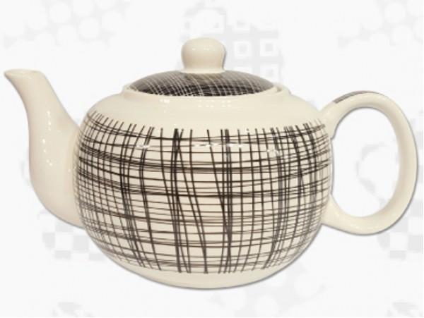 "Ceainic din Portelan colectia Japoneza ""Dungi Negre"""