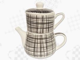 "Tea For One Portelan Colectia Japoneza ""Dungi Negre"""