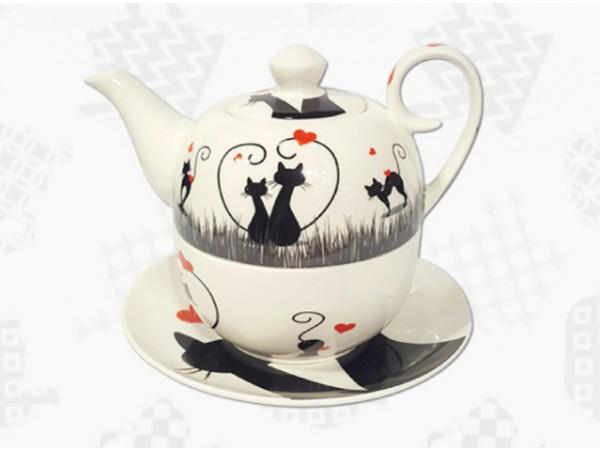 Tea for One Portelan Colectia Cats in love