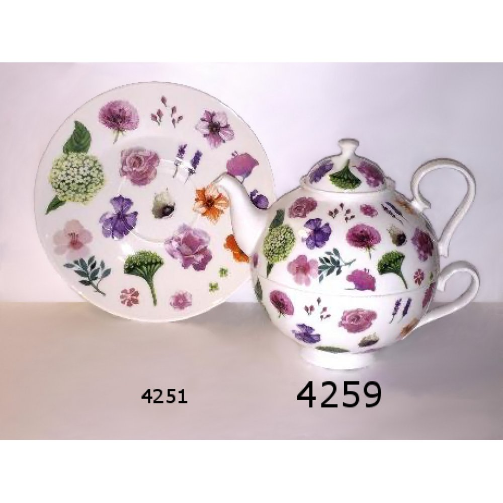 Tea for One Portelan Colectia Shower of Blossoms
