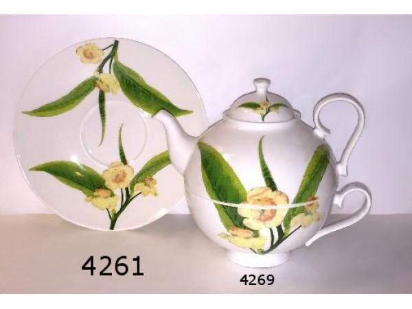 Farfurie Portelan Colectia Frunza de Ceai