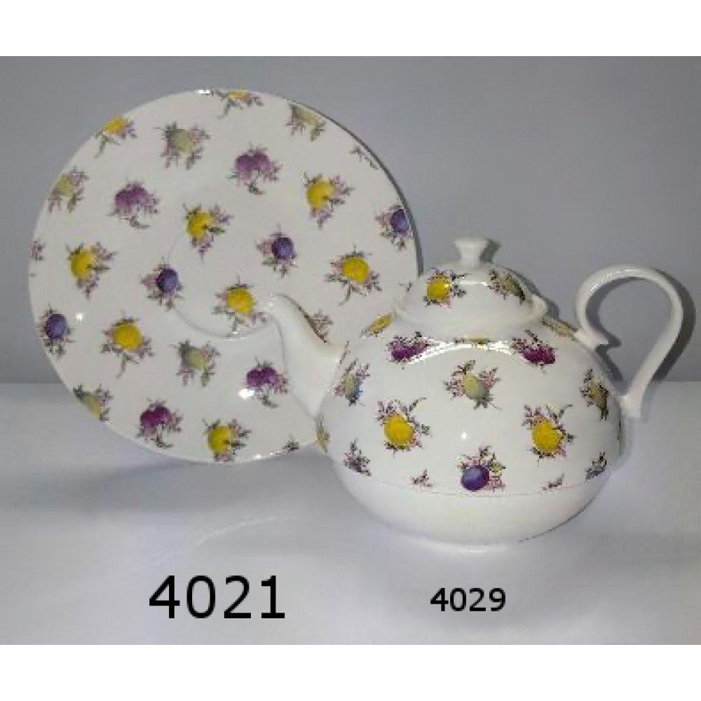 Tea for One Portelan Colectia Dekor Fruits
