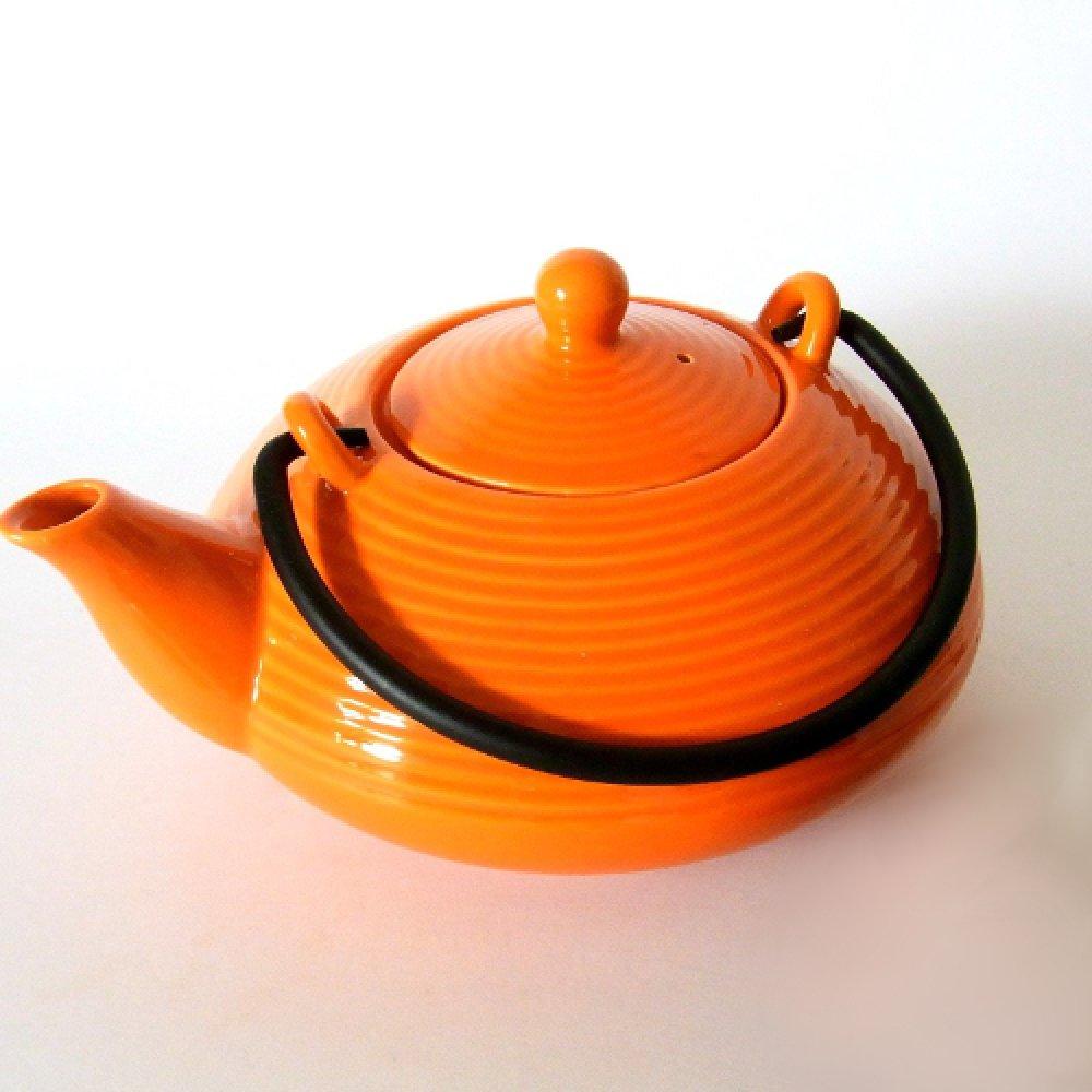 Ceainic Portelan Japonez KYUSHU Portocaliu 1L
