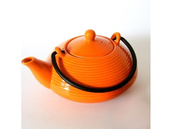 Ceainic Portelan Japonez KYUSHU Portocaliu