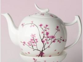 "Ceainic portelan 1.5L colectia ""Cherry Blossoms"""