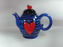 "Ceainic Colectia ""Colorful Heart"" Blue"