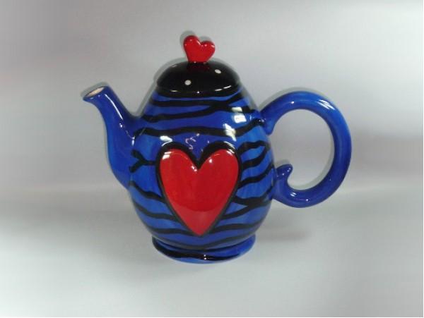 "Ceainic Colectia ""Colorful Heart"" Blue"